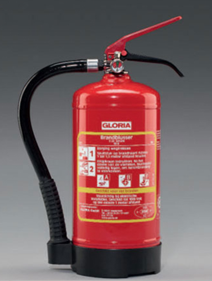 vet brandblusser gloria van de water brandbeveiliging